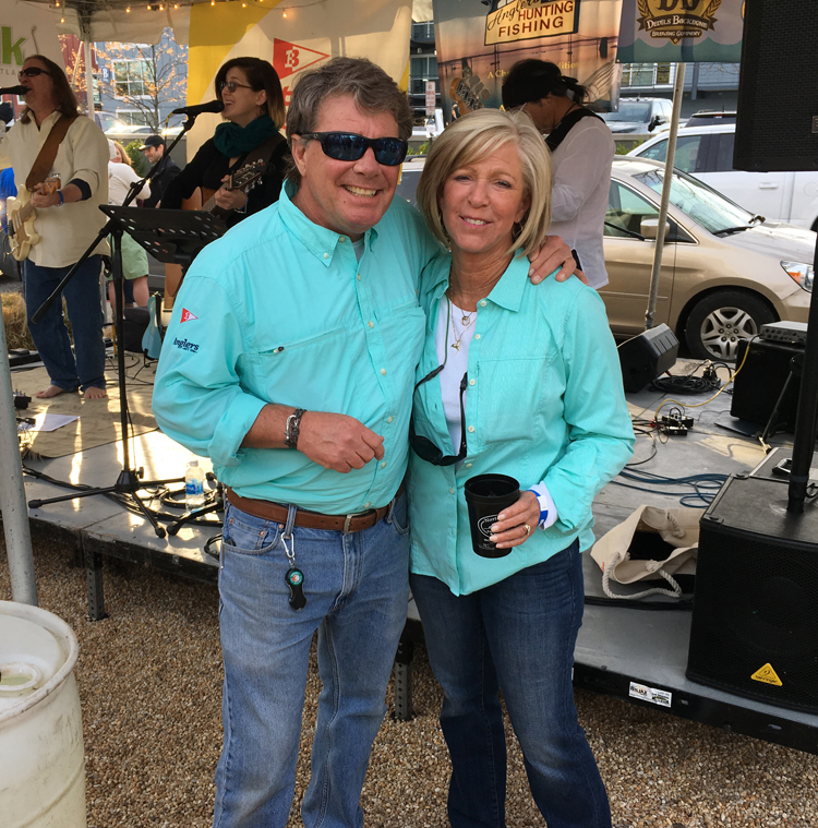 Boatyard Rockfish Tournament 2018 presenting sponsors Charlie and Jane Ebersberger
