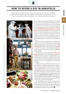 Boatyard Bar & Grill featured in Washingtonian Welcome Guide