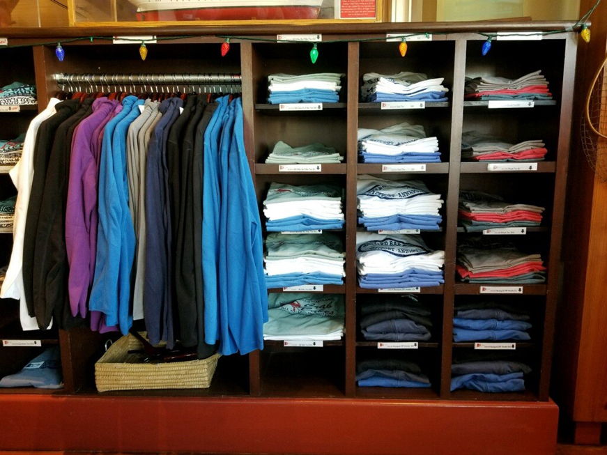 Boatyard merchandise shirts and fleece