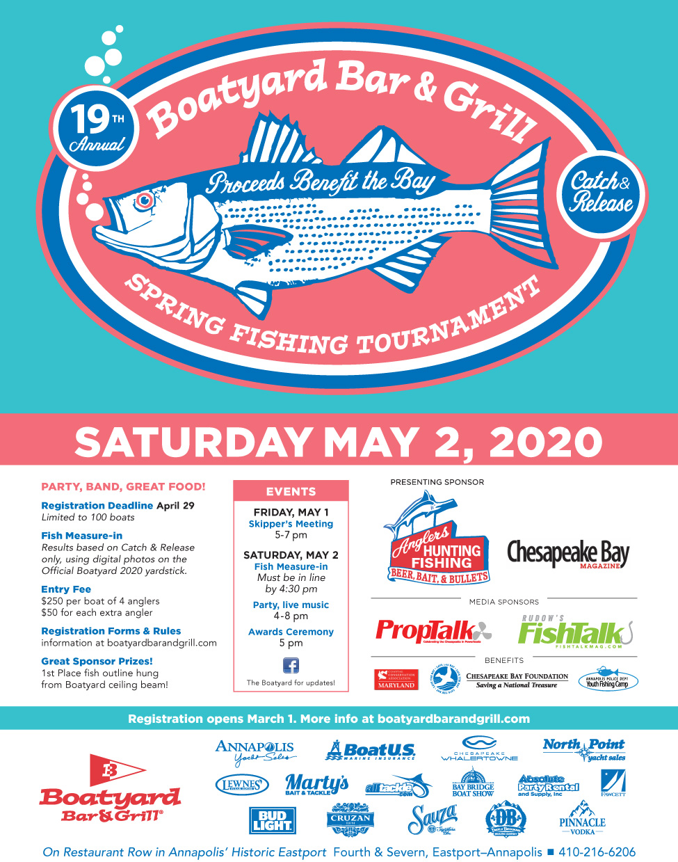 Boatyard 2020 Fishing Tournament
