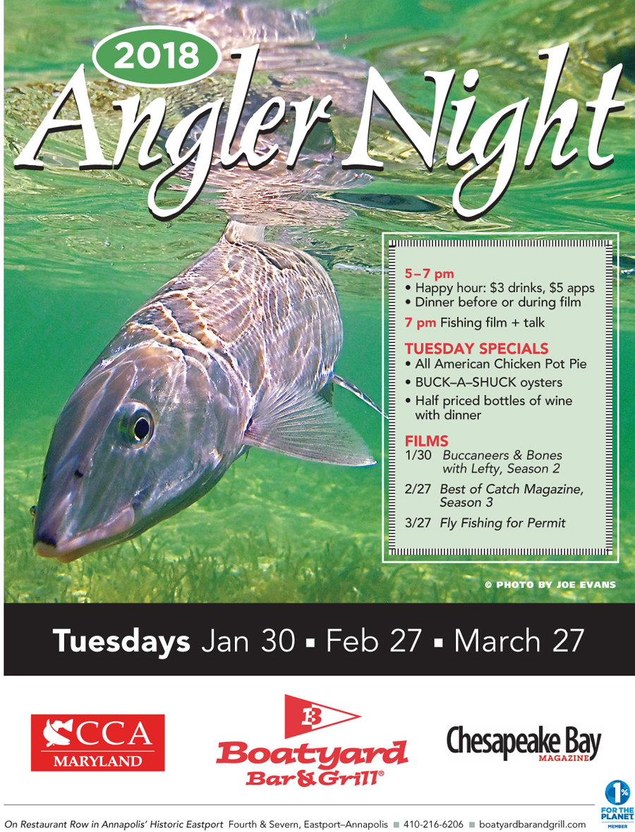 Boatyard 2nd Angler Night February 27 Heads or Tails 2
