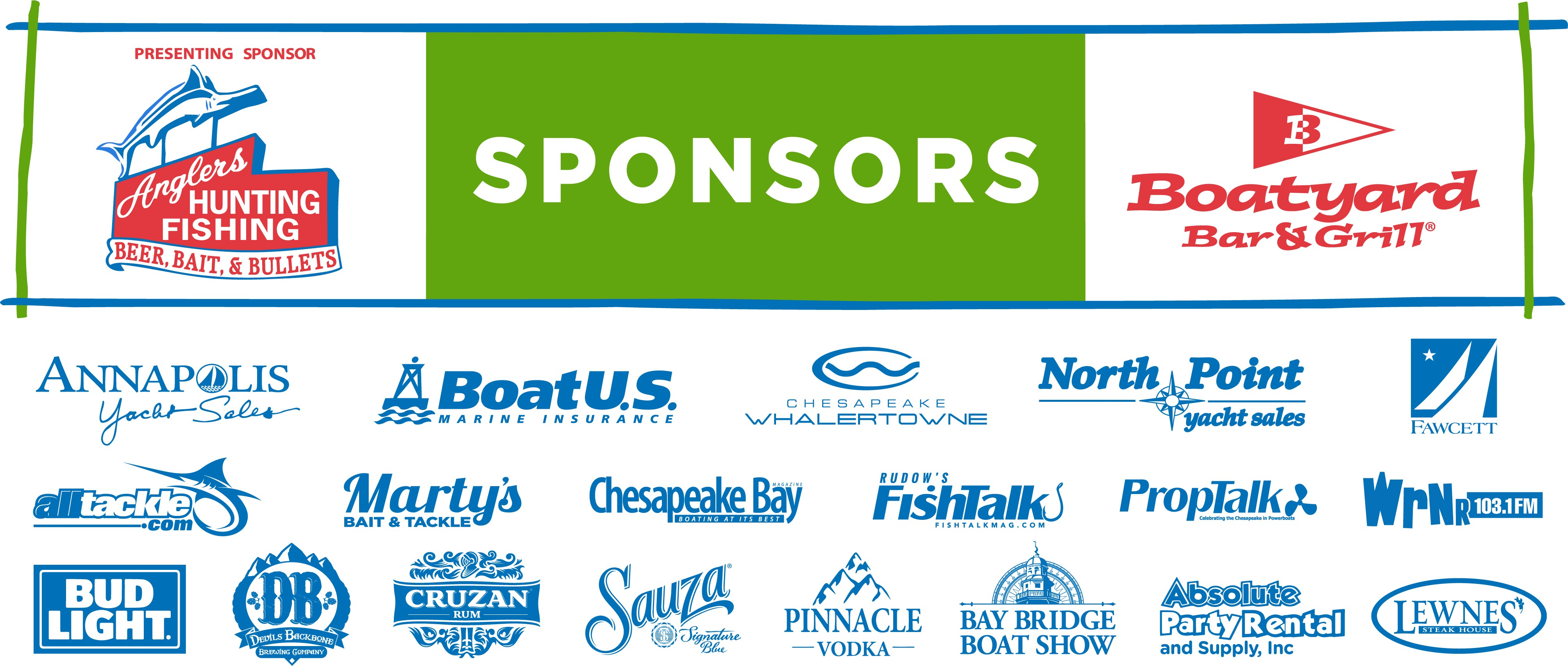 Boatyard Rockfish Tournament Sponsors 2019
