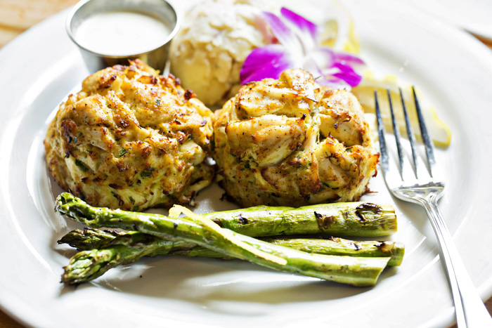 Crab Cake plate full plate FB