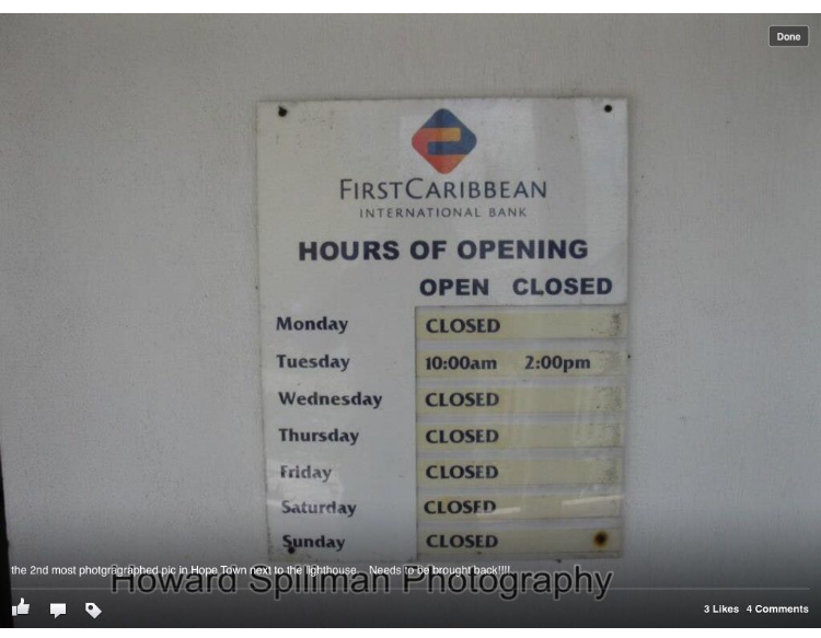 Hopetown banking hours
