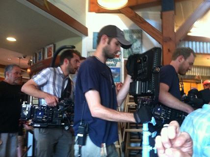 TC TV crew in Food Paradise at Boatyard Bar and Grill in Annapolis Maryland